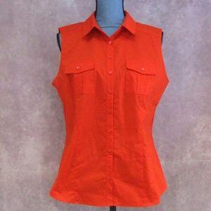 NEW Worthington Zydeco Red (Orange) Sleeveless Top